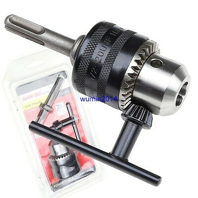 """13mm 1/2"""" UNF Drill CHUCK with SDS Shaft Adaptor and Chuck Key by SANOU"""