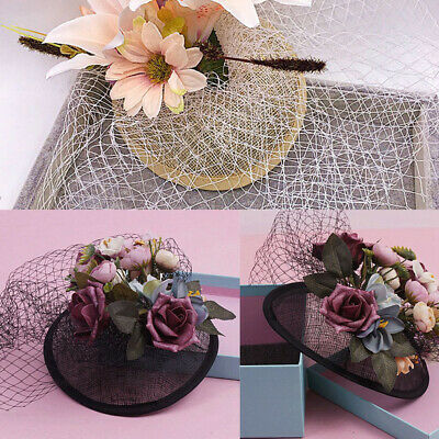 Making  Craft Sinamay Millinery Hat Base Fascinator Round DIY Supplies Material