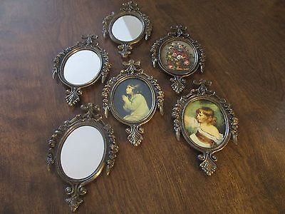 Set of 6 Made in Italy Framed Art and Mirrors