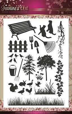Jeanines Art Garden Classics Clear Rubber Stamps 27pcs