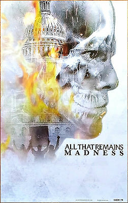ALL THAT REMAINS Madness 2017 Ltd Ed New RARE Poster +FREE Metal Rock Poster!