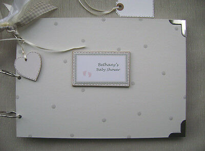 Personalised. Baby Shower. A4 Size.photo Album/Scrapbook/Memory Book.