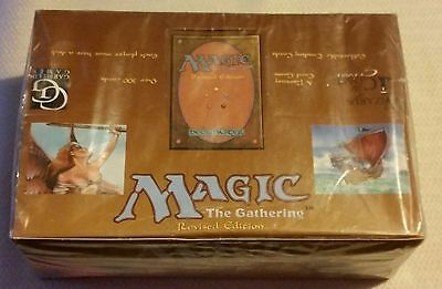 Mtg Magic The Gathering Revised Edition Factory Sealed Booster Box 36 Packs Rare