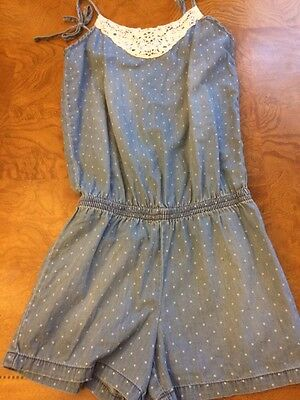 Justice Girls Polka Dot Romper With Sparkles Size 12