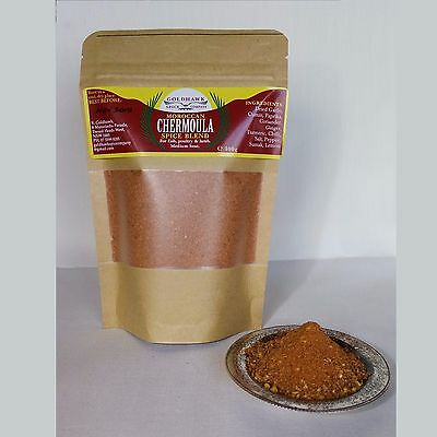CHERMOULA SPICE AUTHENTIC MOROCCAN SPICE BLEND 100g packet NORTH AFRICAN COOKING