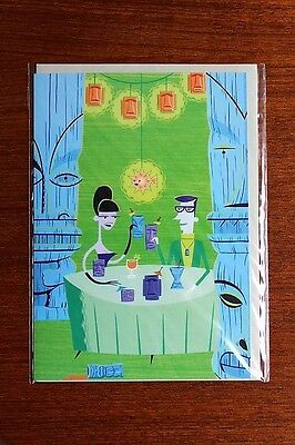 SHAG Josh Agle THE LAST DAYS OF KAHIKI 2000  Blank Card Printed in Britain - NEW