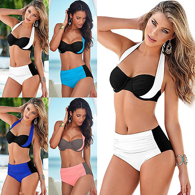 New Women Bandage Bikini Set Push-up Padded Bra Bathing Suit Swimwear Plus Size