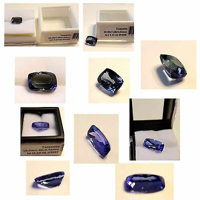 2 pieces Cushion shapes, 4.13 Cts & 2.15 Cts Natural tanzanites