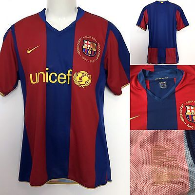Fc Barcelona Player Issue 2007/08 Home M UCL Shirt Jersey Camiseta Trikot Maglia