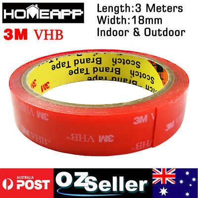 3M VHB 18mmX3m Double-sided Clear Transparent Acrylic Adhesive Tape