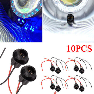 10pcs T10 W5W 168 194 Auto Socket Connector Extension LED Bulb Wedge Light Base