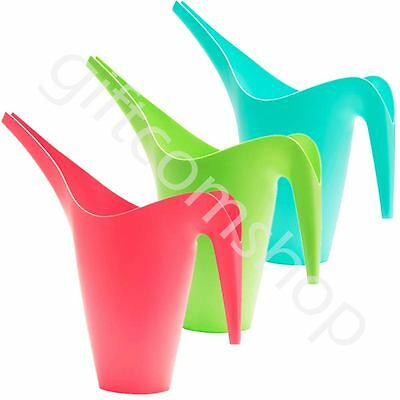 Garden Watering Can Jugs Or Vase - 1.2 Litres - Red Blue Green Home Decoration
