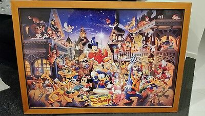 The Magic of Disney 90s collector picture in frame. Rare. LARGE