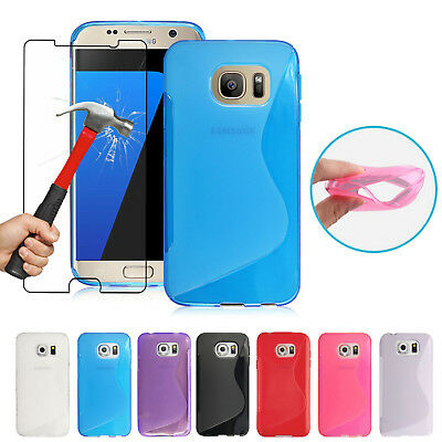 Shockproof Protective Case Cover & Tempered Glass For Samsung Galaxy Phone Model