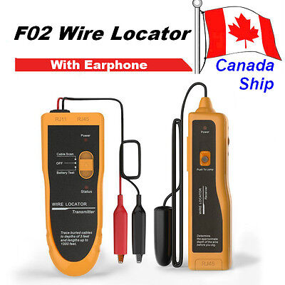 Canada Ship F02 Underground Cable Locator Wire Tracker Lan With Earphone