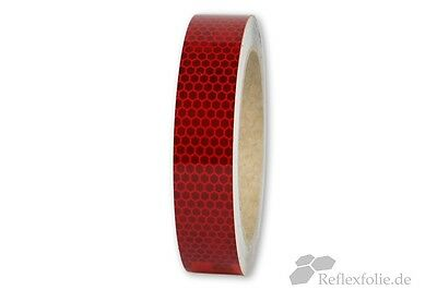 5m x 25mm 3M™ Reflex Ribbon 823I RA2 Reflex Foil Red Reflective Self Adhesive