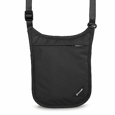 Pacsafe Coversafe V75 Anti-Theft RFID Blocking Neck Pouch, Black