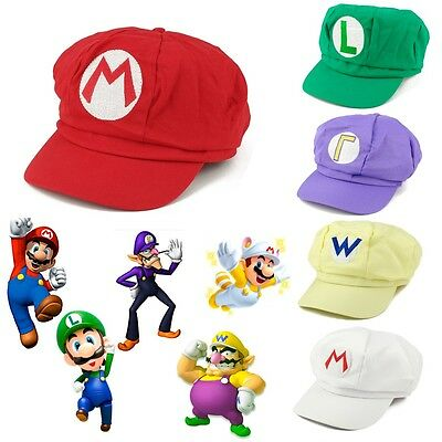 Super Mario Bros Anime Octagonal Hat Cap✔Cosplay Party✔Fancy Dress✔5 Style✔Sale✔