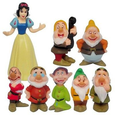 Snow White And The 7 Dwarfs Dwarves Disney 8pcs Set Figures PVC Cake Toppers