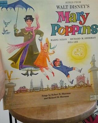 songs from walt disneys mary poppins record/lp