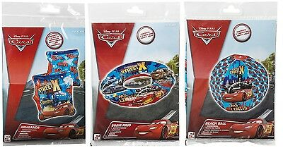 Disney Pixar Cars Inflatable Swim Ring Armbands Beach Ball Pool Holiday Fun Toys