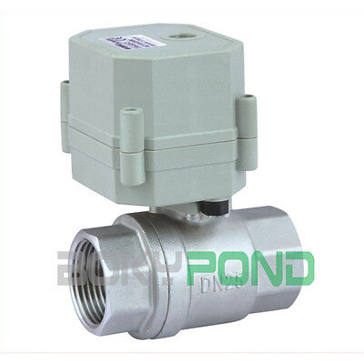 AC/DC9-24,CR2-02 Electric Valve BSP 1'' Stainless Motorized Ball Valve
