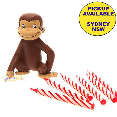 Curious George Birthday Party Supplies Cake Decoration Topper & Candles