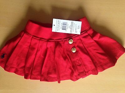 BNWT Gorgeous Ralph Lauren Baby Girls Red Skirt - 9 month
