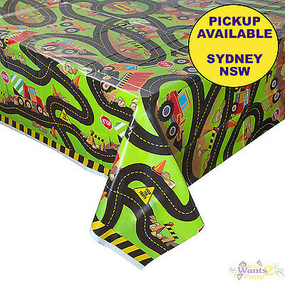 Construction Truck Party Supplies Plastic Tablecloth Table Cover Digger Birthday