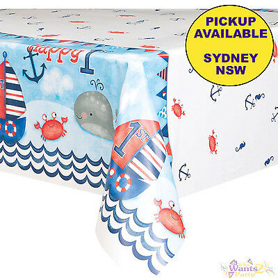 Nautical Boys 1St Birthday Party Supplies Plastic Tablecloth Table Cover