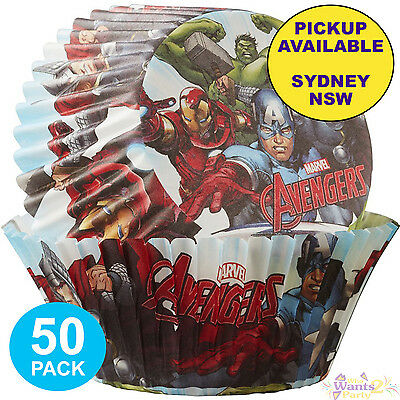 Avengers Party Supplies 50 Baking Cups Cupcake Superhero Patty Pans Liners
