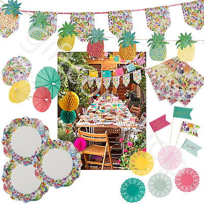 Talking Tables Floral Fiesta BBQ Hawaiian Summer Party Tableware Decoration