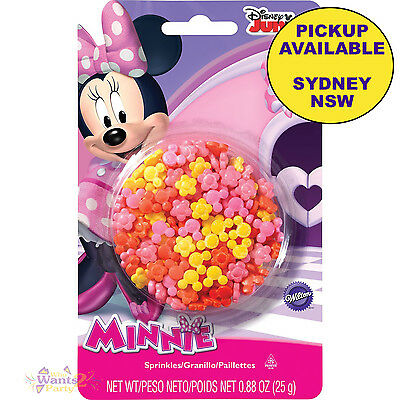 Minnie Mouse Party Supplies Wilton Cupcake Sprinkles Edible Sugar Toppers