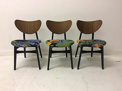 Set Of Three Midcentury Vintage 1950s G Plan Butterfly Dining Desk Chai