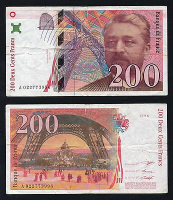 200 francs Eiffel France 1996  BB-/VF-  |