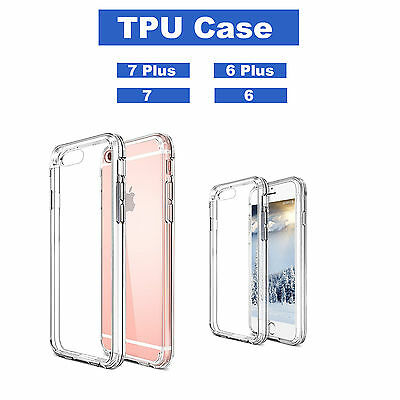 Strong Hard  Case Transparent Clear Cover Protector for iPhone 7 7 Plus 6+ 6