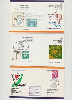 Luftpostpost Lufthansa First Flight 1° Vol  12 Lettres    1305