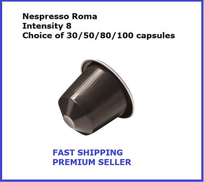 30 50 80 100 Capsules Nespresso Coffee Roma Intensity 8 Popular Pods