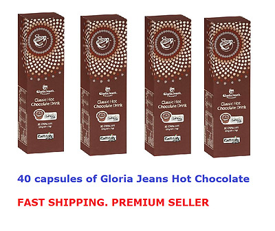 40 Capsules Gloria Jeans Hot Chocolate Capsules Caffitaly System