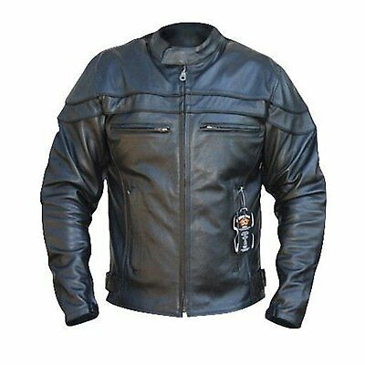 Bikers Gear Sturgis Monza Black Leather  Armoured Vented Motorcycle Jacket