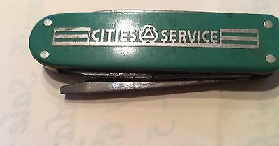 Vintage 1960's CITIES SERVICE OIL Co. Advertising Folding 4 Feature POCKET KNIFE
