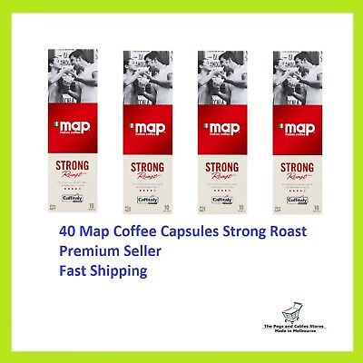 40 Capsules Map Coffee Strong Roast Caffitaly System