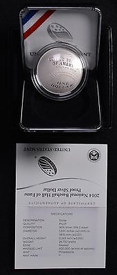 2014 P Baseball Hall of Fame Commemorative Proof Silver Dollar