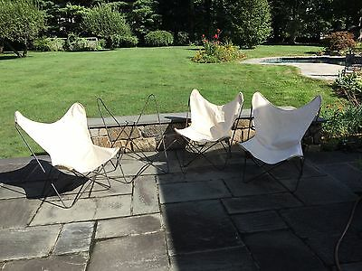 Vtg1960's Knoll Hardoy Butterfly Chair Mid Century Modern (Set of 4)