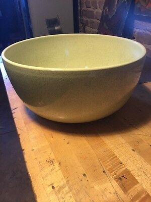 "Vintage Bauer Bowl Green 15"" Across By 7"" Tall  Largest Size"