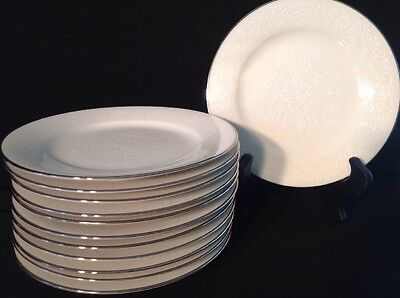 "Noritake Ivory Affection #7192 Dinner Plates 10-5/8"" Mint Condition -Multiples"