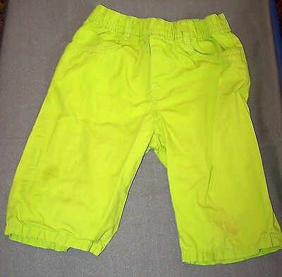 Lime Green Long Shorts with Camo Leggings