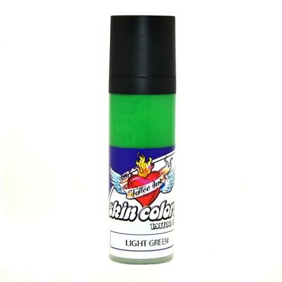 Tinta Skin Colors Verde Light Green 30 ml. Tatuaje Tattoo ENVIO 24/48 HORAS