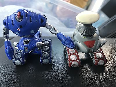 "RARE Lost In Space Movie 3"" B-9 Robot Set of 2 DIFFERENT ROBOTS (1998 Applause)"