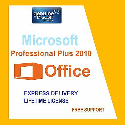 Original Office Professional Plus 2010 32 /64Bit License Key- Scrap Pc